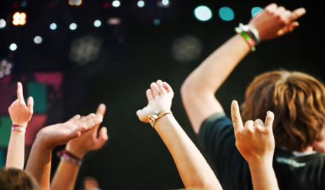 Big Bucks at Music Festivals using Cashless Wristbands.